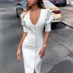 Bohemian chic short dress in white