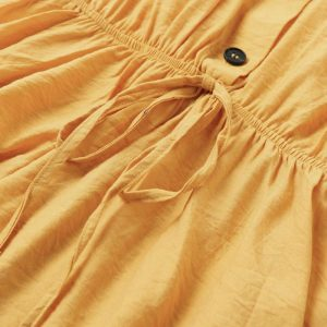 Bohemian Yellow Mustard Short Dress