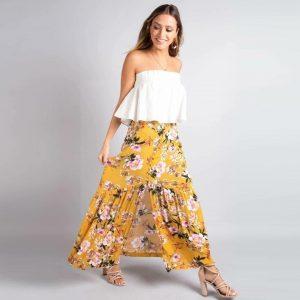 Yellow Bohemian Skirt