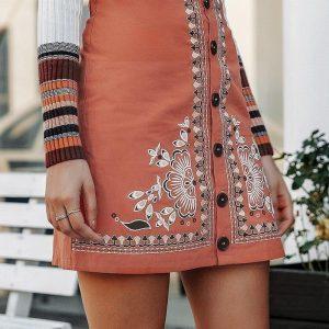 Pink bohemian skirt
