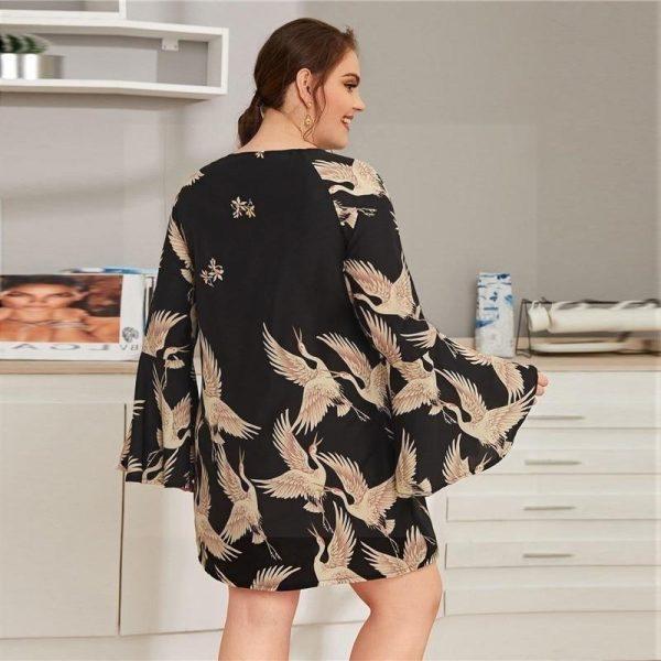 Bohemian dress large size cheap
