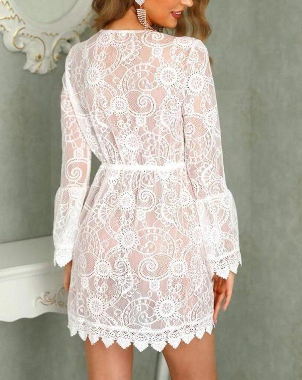 White boho lace dress