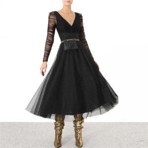 Black boho dress