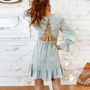 Bohemian chic dress for bridesmaid