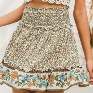 Bohemian hippie style skirt