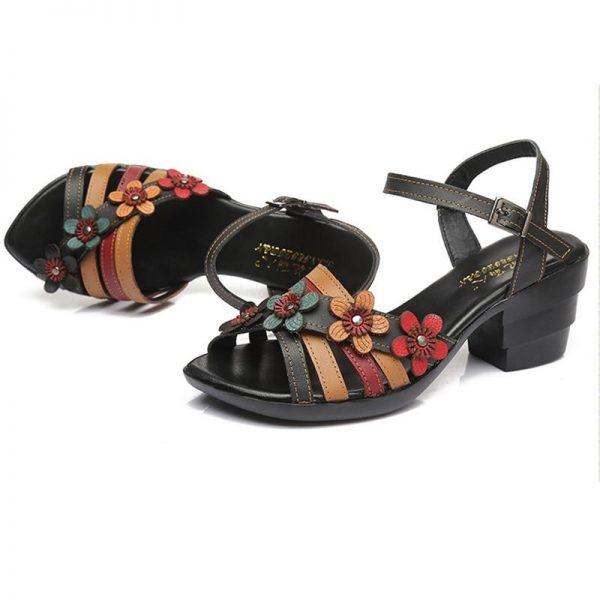 Black Bohemian Sandals