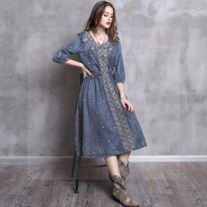 Bohemian chic dress winter 2018