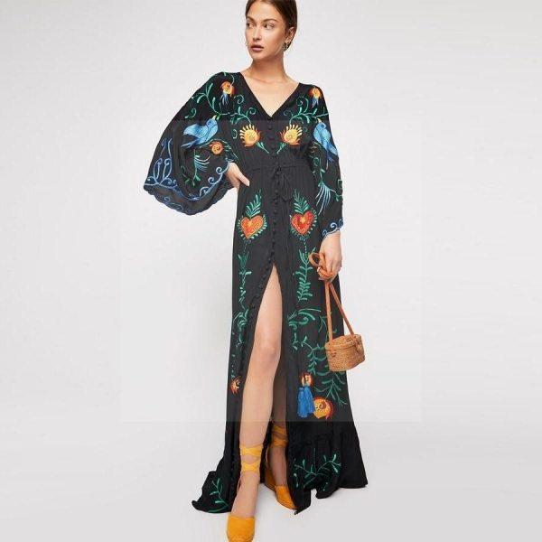 Bohemian chic winter dress