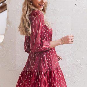 Bohemian chic red dress