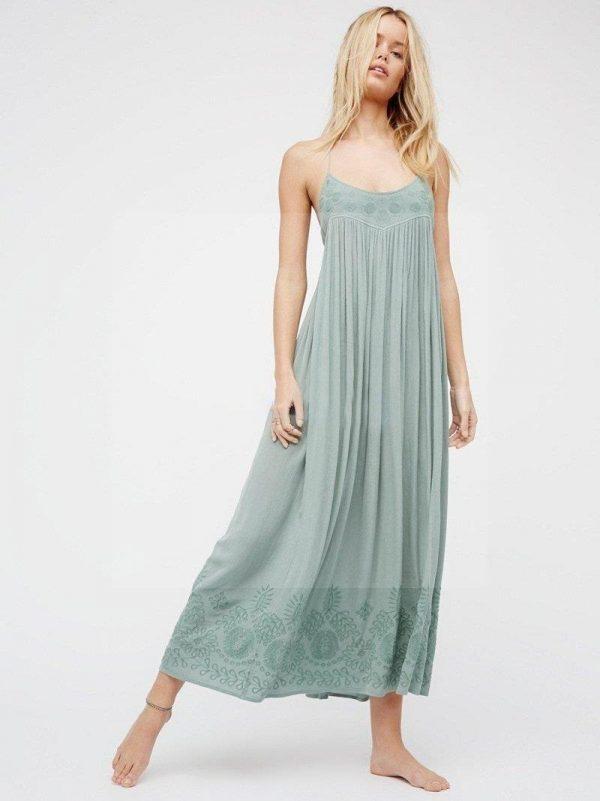 Dress boheme chic turquoise