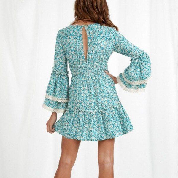 Bohemian ethnic dress