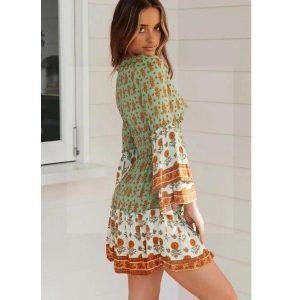Bohemian khaki dress