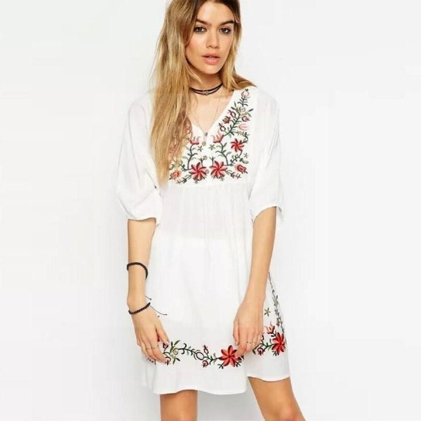 Romantic hippie long dress