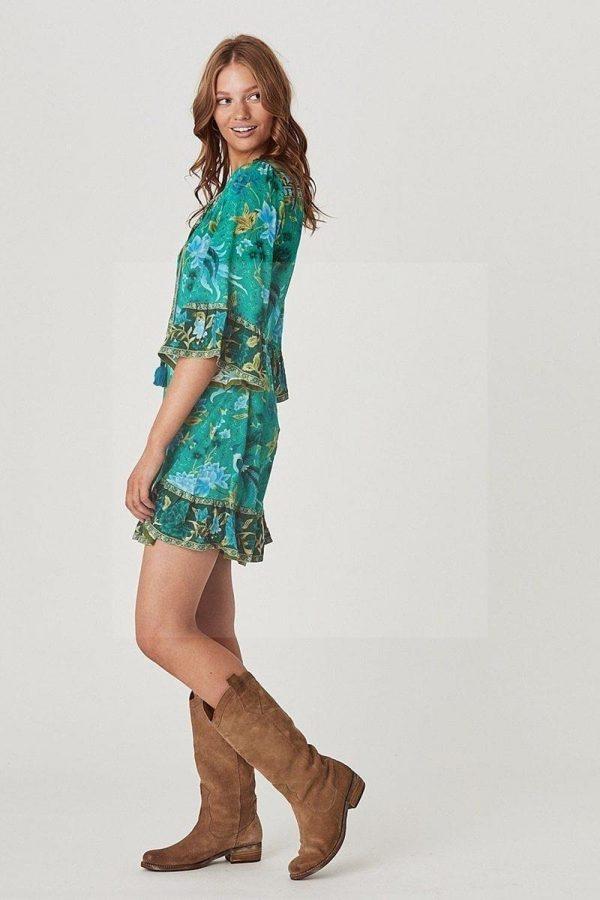 Bohemian chic short sleeve dress