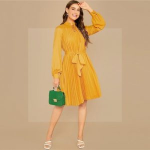 Bohemian dress mustard yellow